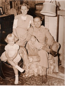 My mother as a young girl in Queens with her parents. My mother did not meet her father until the end of the war, where he was serving in the United States Army as a Lieutenant Colonel